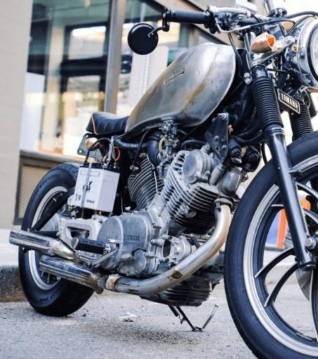 Motorrad Montageständer hinten
