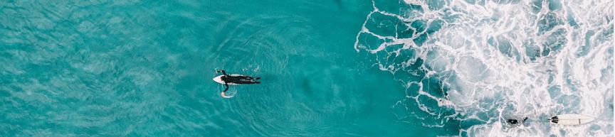 Surfen auf dem Meer